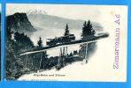 GG586, Rigi-Bahn Und Pilatus, 258, Train, Bahn, Zimermann Ad, Train, Précurseur, Circulée 1899 Rigi-First - LU Lucerne