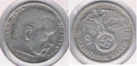 ALEMANIA  DEUTSCHES REICH 2 MARK D 1939 PLATA SILVER S - 2 Reichsmark