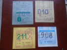 Hungary  Autobus - Bus - 4  Monthly Tickets   -  BA108.17 - Abonnements Hebdomadaires & Mensuels