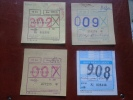 Hungary  Autobus - Bus - 4  Monthly Tickets   -  BA110.3 - Abonnements Hebdomadaires & Mensuels
