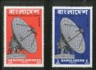 Bangladesh 1975 Betbunia Satellite Earth Station Telecommunication Sc 89-90 MNH # 3243 - Bangladesh