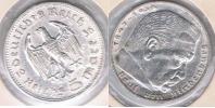 ALEMANIA  DEUTSCHES REICH 5 MARK A 1936 PLATA SILVER S - [ 4] 1933-1945 : Tercer Reich