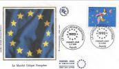 FDC France 1992  N° 2776 - MARCHE UNIQUE EUROPEEN - PARIS. - FDC
