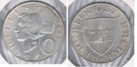 AUSTRIA  10 SCHILLING 1958 PLATA SILVER S - Austria