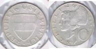 AUSTRIA  10 SCHILLING 1959 PLATA SILVER S - Austria