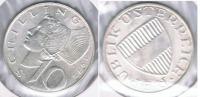 AUSTRIA  10 SCHILLING 1972 PLATA SILVER S2 - Austria