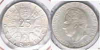 AUSTRIA  25 SCHILLING 1965 PLATA SILVER S - Austria