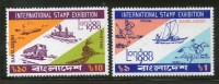Bangladesh 1980 London Stamp Exhibition Early Mail Transport Sc 183-4 MNH # 1236 - Bangladesh
