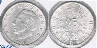 AUSTRIA  25 SCHILLING 1969 PLATA SILVER S - Austria