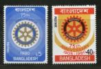 Bangladesh 1980 Rotary International 75th Anniversary Sc 179-80 MNH # 1198 - Bangladesh