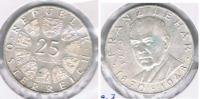 AUSTRIA  25 SCHILLING 1970 PLATA SILVER S - Austria