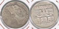 AUSTRIA  100 SCHILLING 1977 PLATA SILVER S - Austria