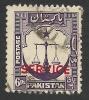 Pakistan, 6 P. 1948, Sc # O15, Mi # 16, Used. - Pakistan