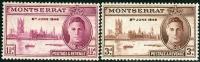 MONTSERRAT, COLONIA BRITANNICA, BRITISH COLONY, COMMEMORATIVO, RE GIORGIO VI, 1946, FRANCOBOLLI NUOVI (MNH**) - Montserrat