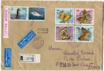 ALGERIE LETTRE RECOMMANDEE PAR AVION DEPART ANNABA-PORT 2-9-1996 POUR LA FRANCE - Algérie (1962-...)