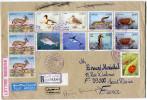 ALGERIE LETTRE RECOMMANDEE PAR AVION DEPART ANNABA-PORT 30-3-1996 POUR LA FRANCE - Algérie (1962-...)
