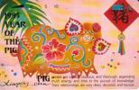 NORTHERN MARIANA ISLANDS 25 U YEAR OF THE PIG CHINESE ZODIAC NMN-MM-14 ISSUED 1995 TAMURA CV$48US READ DESCRIPTION !! - Northern Mariana Islands