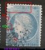 Cérès 25C, GRANDE CASSURE  N° 60 Type I, 146 A2, 3° état. 1 PERLE Floue Repère E, 3 Autres Absentes,   3 SCANS - 1871-1875 Ceres
