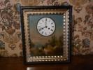 Horloge Murale - Décor Peint- Fin XIXe - Parfait état De Marche - - Wandklokken