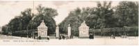 Bruxelles, Entrée Du Parc, Rue Royale Et Place Des Palais, Carte Panorama, Carte Double Largeur (pk24856) - Forests, Parks