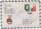 FINLANDE LETTRE PAR AVION DEPART POHJOIS-HAAGA 31-8-57 POUR LA FRANCE - Briefe U. Dokumente
