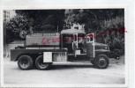 86 - CHATELLERAULT - CARTE PHOTO ETS MERCERON CLAUDE- 62 AV. RICHELIEU- CAMION CITERNE INCENDIE-POMPIERS - Photographs