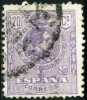 SPAGNA, SPAIN, ESPANA, COMMEMORATIVO, ALFONSO XIII, 1909, FRANCOBOLLO USATO, Mi 235A, Scott 301, YT 247 - 1889-1931 Regno: Alfonso XIII