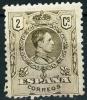SPAGNA, SPAIN, ESPANA, COMMEMORATIVO, ALFONSO XIII, 1909, FRANCOBOLLO USATO, Mi 231A, Scott 297, YT 242 - 1889-1931 Regno: Alfonso XIII