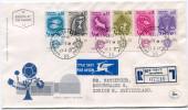 ISRAEL ENVELOPPE 1er JOUR RECOMMANDEE PAR AVION DEPART JERUSALEM 27-2-61 POUR LA SUISSE - Covers & Documents