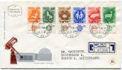 ISRAEL ENVELOPPE 1er JOUR RECOMMANDEE DEPART JERUSALEM 27-2-61 POUR LA SUISSE - Covers & Documents
