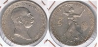 AUSTRIA FRANCISCO JOSE I 5 CORONAS 1908 PLATA SILVER S - Austria