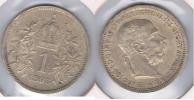AUSTRIA FRANCISCO JOSE I CORONA 1893 PLATA SILVER S. BONITA - Austria