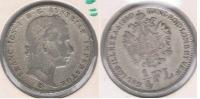 AUSTRIA IMPERIO CUARTO FLORIN 1860 PLATA SILVER S - Austria