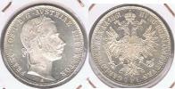 AUSTRIA IMPERIO FLORIN 1861 PLATA SILVER S - Austria