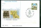 INTERO POSTALE-INTERI POSTALI I.P.Z.S.-C.P. IPZS - LUCCA -SANTI - SAN FRANCESCO - VIA FRANCIGENA - MARCOFILIA - 6. 1946-.. Repubblica