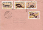 Postal History Cover: Togo Used Reptiles, Snakes Set On Cover - Snakes