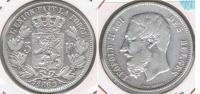 BELGICA 5 FRANCS 1869 PLATA SILVER S - 09. 5 Francs
