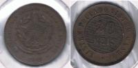 BRASIL 20 REIS 1889 S - Brasil