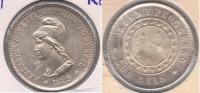BRASIL 500 REIS 1889 PLATA SILVER S - Brasil
