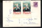 "P2483 ERINNI ERINNOFILIA LABEL  - 1976 CENTENARIO MARINETTI - ED. ""FUTURISMO OGGI "" - SU CARTOLINA CASPOGGIO - Erinnofilia"