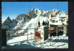 P2500 COURMAYEUR ( Aosta, AO ) Punta Helbronner E M. Bianco - Animata, Animè - Inverno, Winter, Hivre - Italia