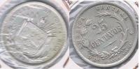 COSTA RICA 25 CENTAVOS 1890 PLATA SILVER S - Costa Rica