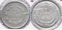 COSTA RICA 25 CENTAVOS 1895 PLATA SILVER S - Costa Rica