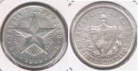 CUBA 20 CENTAVOS PESO 1948 PLATA SILVER S - Cuba
