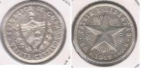 CUBA 20 CENTAVOS PESO 1949 PLATA SILVER S - Cuba