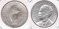 CUBA 25 CENTAVOS PESO 1953 PLATA SILVER S - Cuba