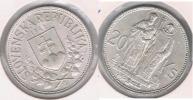 ESLOVAQUIA 20 CORONA 1941 PLATA SILVER S - Eslovaquia