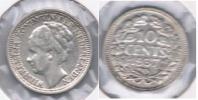 HOLANDA 10 CENTS GULDEN 1937 PLATA SILVER S - 1948-1980 : Juliana