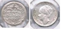 HOLANDA 10 CENTS GULDEN 1938 PLATA SILVER S - 1948-1980 : Juliana