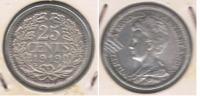 HOLANDA 25 CENTS GULDEN 1919 PLATA SILVER S - [ 3] 1815-… : Reino De Países Bajos